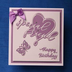 Birthday card   Handcrafted   friend card