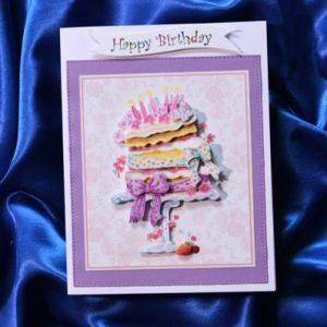 birthday cake happy birthday card