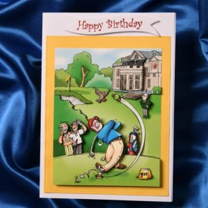 3d handcrafted funny golf theme