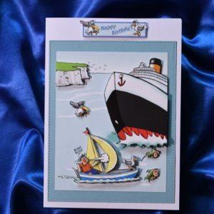 Sailing happy birthday card