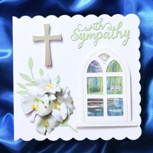 With Sympathy handcrafted card