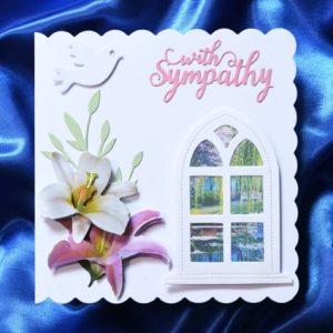 With Sympathy handmade card