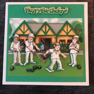 Mens bowls birthday card