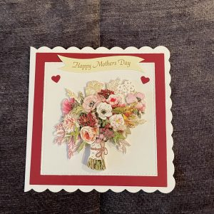 3D mother's day card | flowers