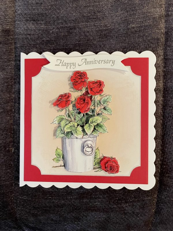 3D anniversary card | flowers