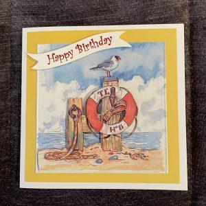 3D birthday card | lifebuoy | seaside | leisure | hobbies
