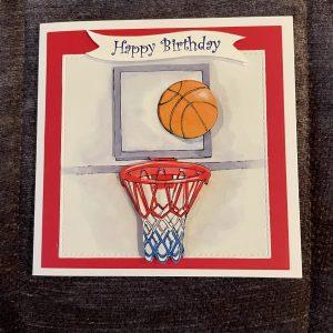 3D handmade birthday card   basketball   sport   leisure   hobbies   teens