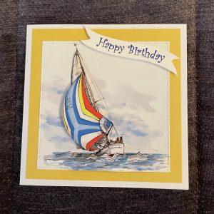 3D handmade birthday card | father's day | yacht | leisure | hobbies