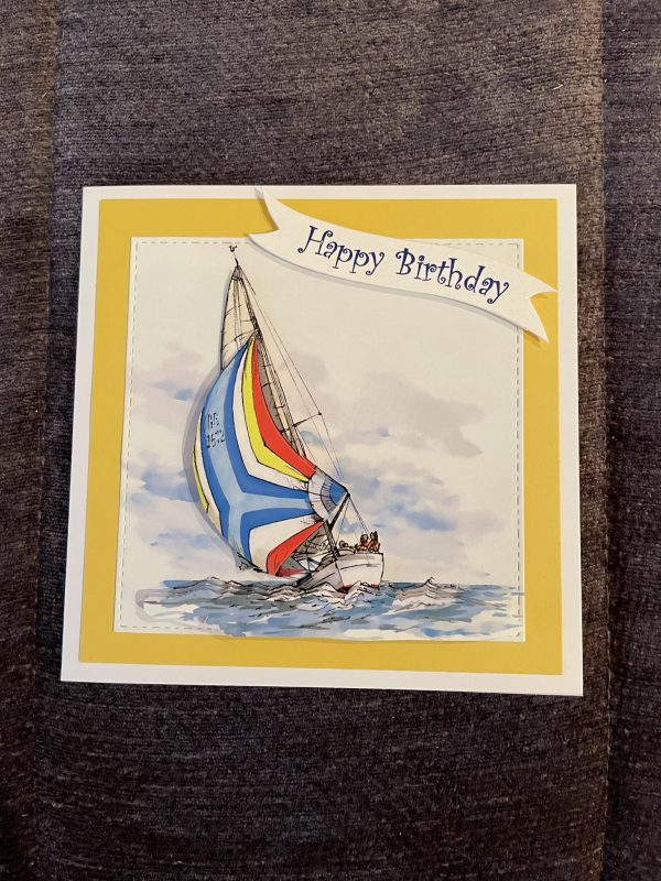 3D handmade birthday card   father's day   yacht   leisure   hobbies