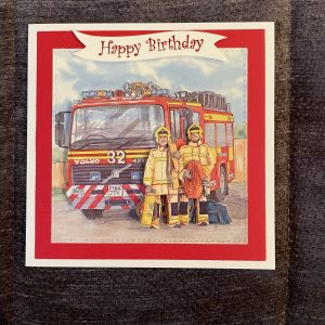 3D handcrafted birthday card | fireman | jobs | father's day