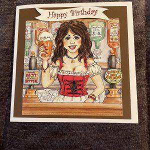 3D handmade birthday card |Father's Day | cheeky barmaid