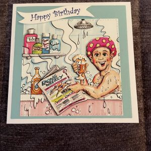 3D handmade birthday card | Father's Day | beer | horse | racing | funny
