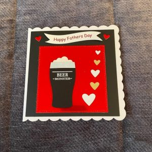 3d handmade | father's day card | beer