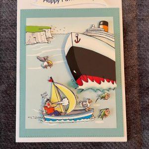 3d | handmade | birthday card | boat | sea