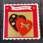 3d   handmade   birthday card   box of chocolates  