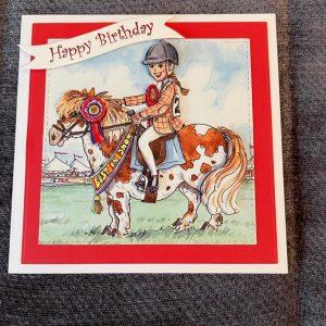 3d | handmade | birthday card | horse