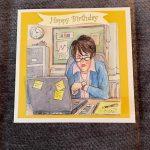 3d   handmade   birthday card   office   job