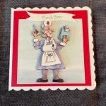 3d | handmade | thank you card | nurse