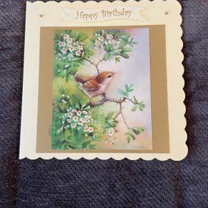 3d handmade | birthday card | bird