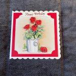 3d   handmade   birthday card   red roses   flowers