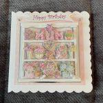 3d handmade   birthday card   flowers