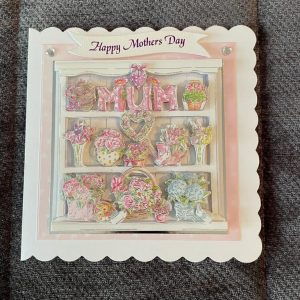 3d handmade | Mother's Day card | flowers