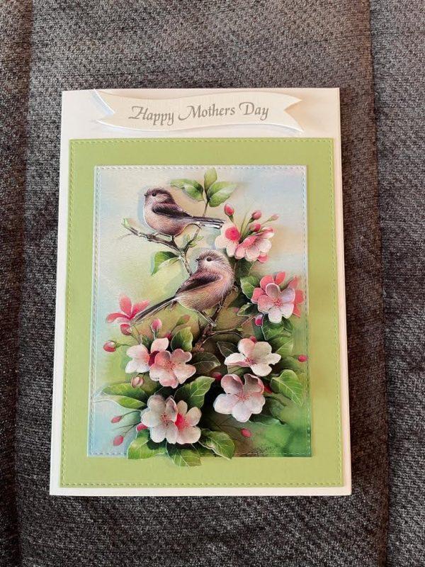 3d handmade | Mother's Day card | birds