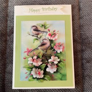 3d handmade | birthday card | birds