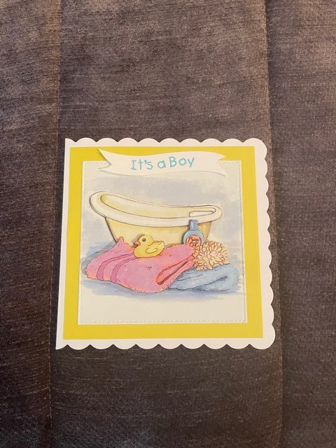 New baby Boy 3D handmade card
