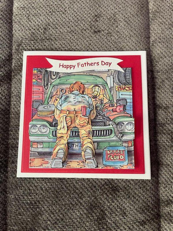handmade-3d-mechanic-themed-birthday-father's-day-card