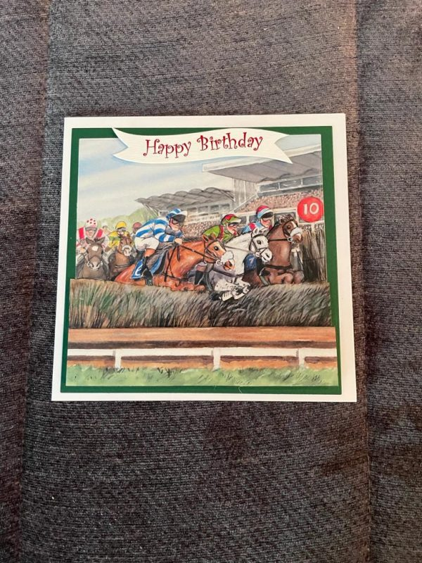 handmade-3d-horse-racing-themed-birthday-father's-day-card