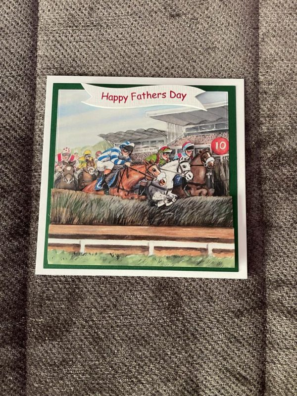 handmade-3d-horse-racing-th-birthday-father's-day-themed-card